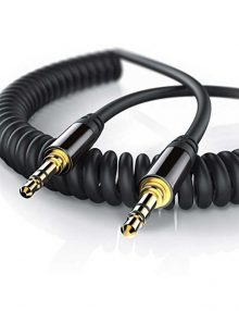 Cable Auxiliar Stereo-Audio Espiral-3.5mm